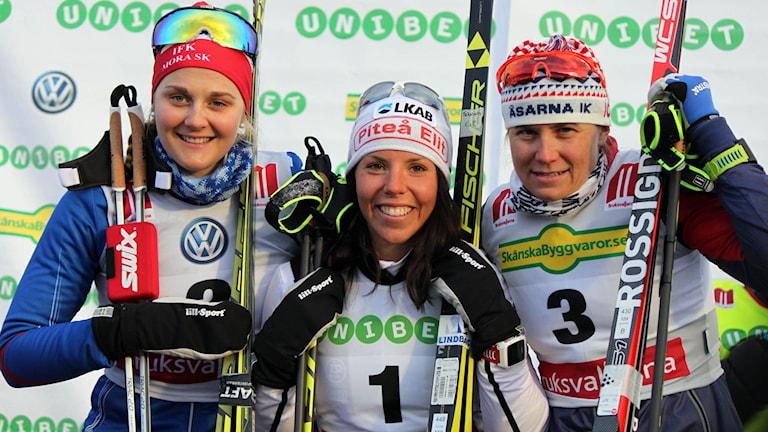Stina Nilsson, Charlotte Kalla och Ida Ingemarsdotter