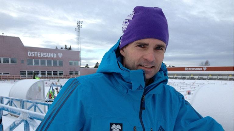 Patrik Jemteborn, ordförande för världscupen i Östersund. Foto: Peter Söderlund/Sveriges Radio.