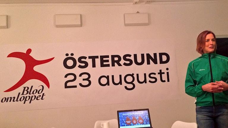 Blodomloppet arrangeras i Östersund den 23 augusti 2016. Lena Gavelin berättar om arrangemanget Foto:Anneli Johansson/Sveriges radio