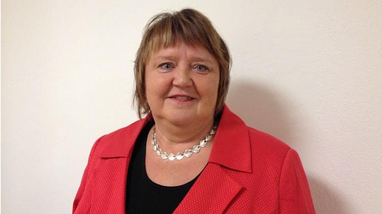 Annsofie Andersson, kommunstyrelsens ordförande i Östersund. Foto: Peter Söderlund/Sveriges Radio