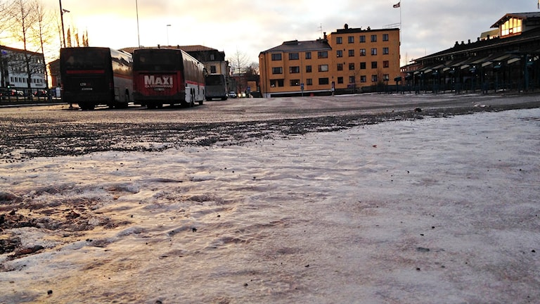 Ishalka busstorget Östersund. Foto: Johanna Svensson/Sveriges Radio.