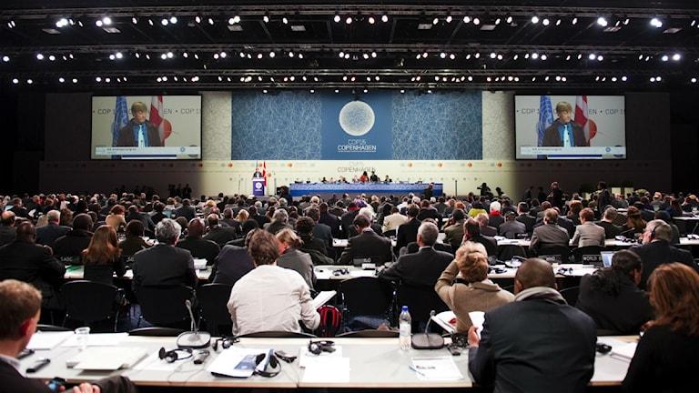 KÖPENHAMN 20091216 Miljöminister Andreas Carlgren talar under plenarsammanträdet under FN:s miljökonferens COP15 i Köpenhamn på onsdagen. Foto: Henrik Montgomery / SCANPIX Kod: 10060