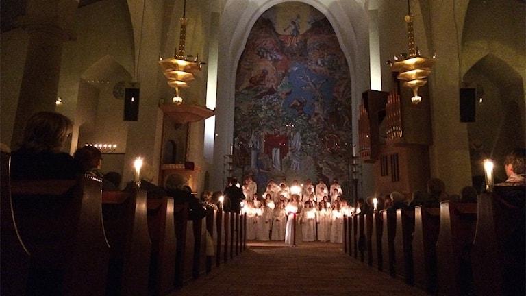 Luciakonsert med Jämtlands gymnasiums musikesteter
