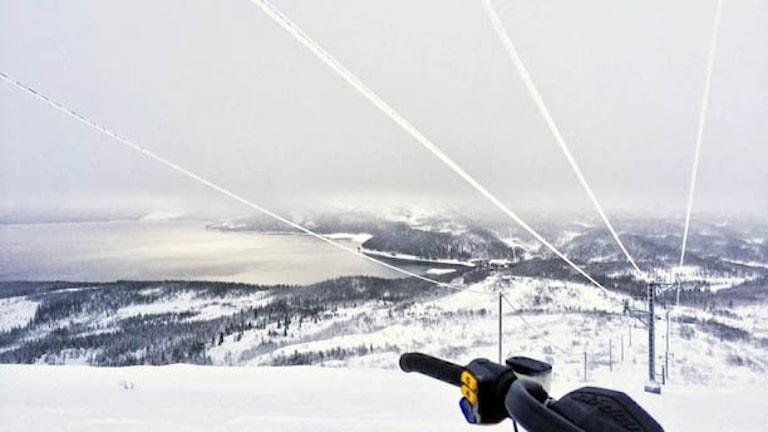 Vybild över vinterlandskapet