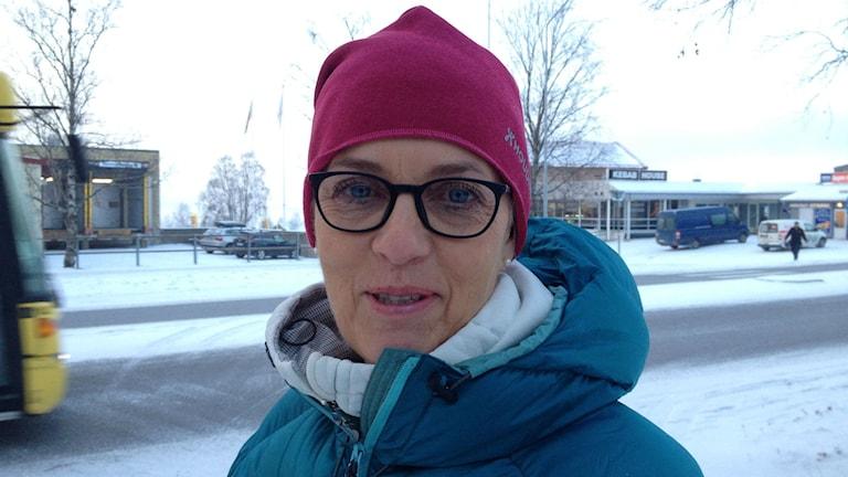 Karin Flodin, verksamhetschef för mottagandet av ensamkommande barn i Östersund. Foto: Peter Söderlund/Sveriges Radio.