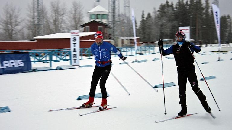 Kylslaget träningspass för längdåkarna inför Skandinaviska cupen i Östersund Foto:Anneli Johansson/Sveriges Radio