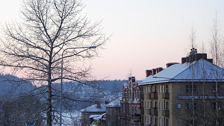 Östersundsvy staden vinter. Foto: Lotta Löfgren/Sveriges Radio