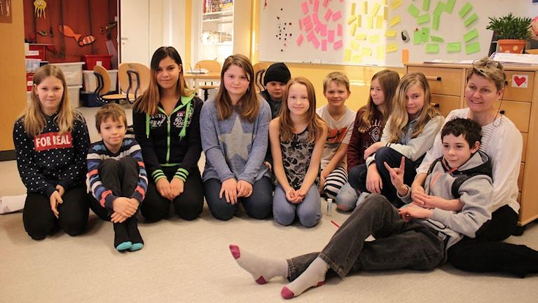 Häggenås skola klass 5A. Foto: Leif Landin/Sveriges radio.