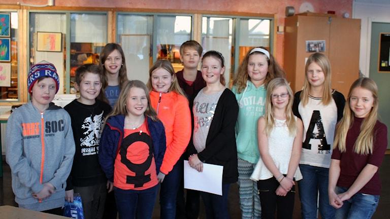 Dvärsätts skola klass 5A. Foto: Leif Landin/Sveriges radio.