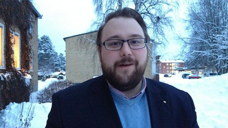 Jonas Andersson, kommunstyrelelsens ordförande i Ragunda. Foto: Peter Söderlund/Sveriges radio.