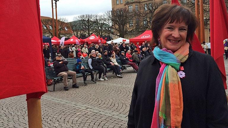 Annelie Nordström, Kommunals ordförande. Foto: Anna Cassel/Sveriges Radio.