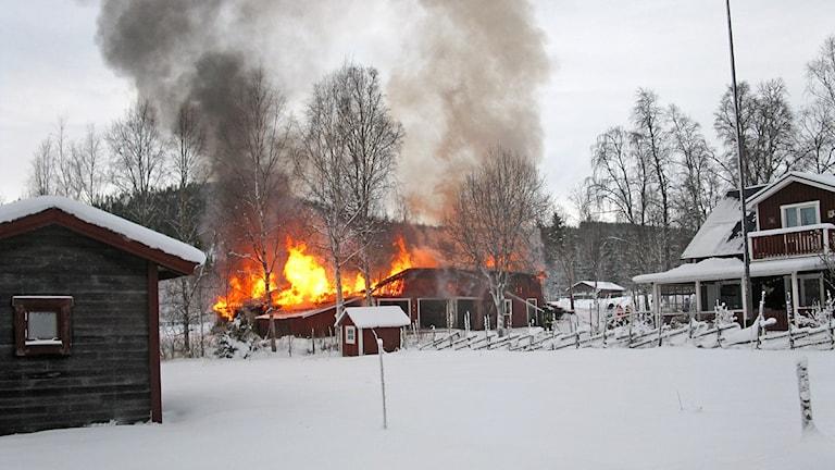 Brand ladugård Vemdalen