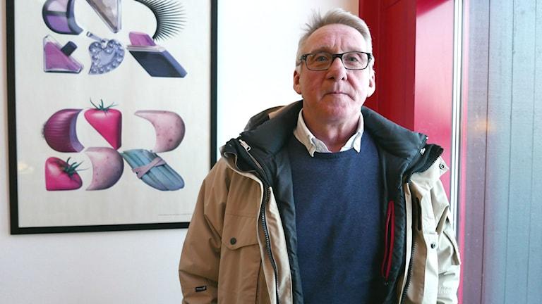 Jan Persson jobbar med psykisk ohälsa inom Region Jämtland Härjedalen. Foto: Simon Gunnholt/Sveriges Radio