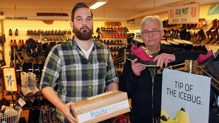 Lasse och Niclas Stöök driver butik och näthandel i Hammarstrand