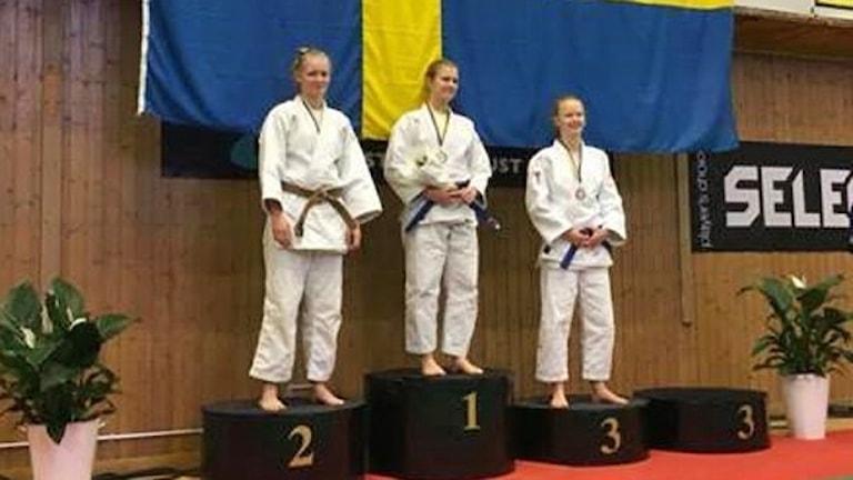 Tre tjejer på prispall vid judo-SM