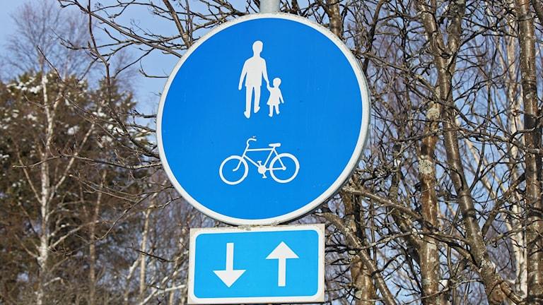 Vägmärke - gång- och cykelväg