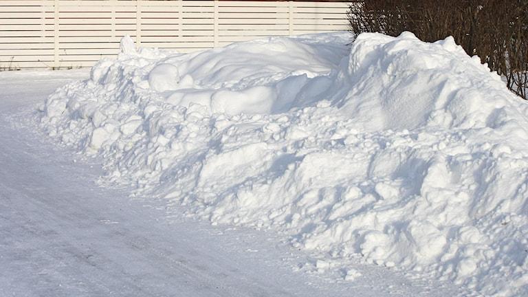 Snöhög efter gata
