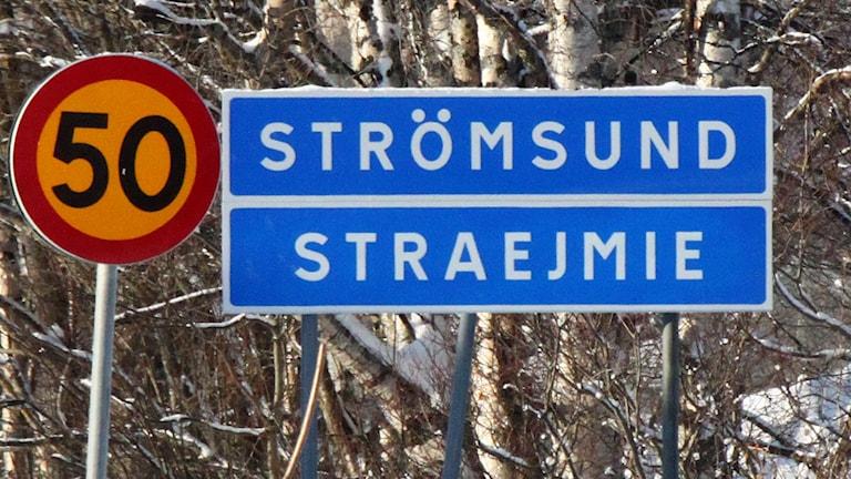 Vägskylt Strömsund