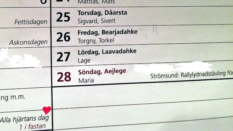 Skottdagen saknas  i Strömsunds kommuns almanacka