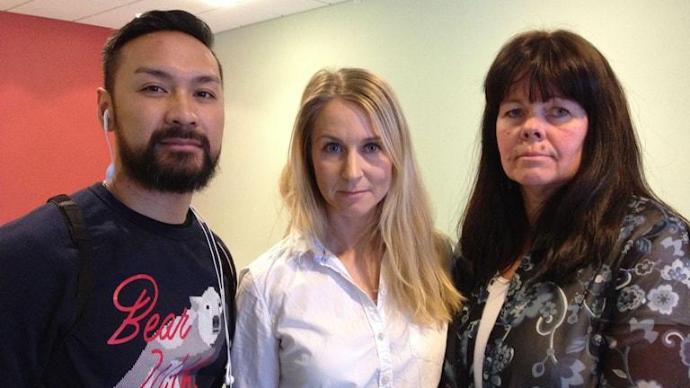 Björn Olofsson, Alexandra Hägglund och Cecilia Modin i polisens ungdomsgrupp.