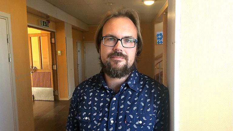 Rektorn Fredrik Jonsson på Hedenvindsskolan i Strömsund.