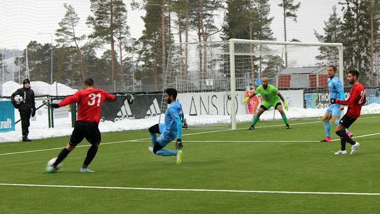 Östersunds FK pressar gästande AFC United.