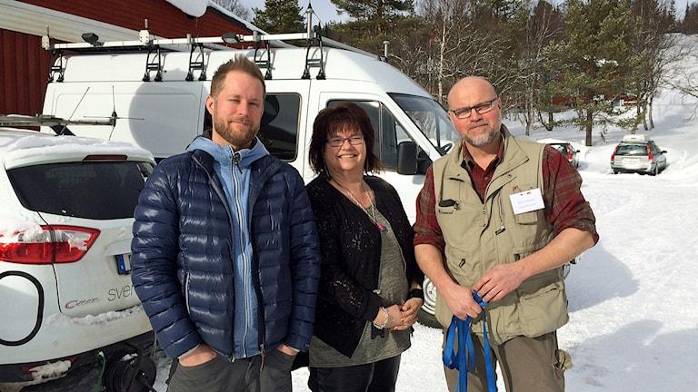 P4 Jämtlands team från vargsymposiet i Vålådalen