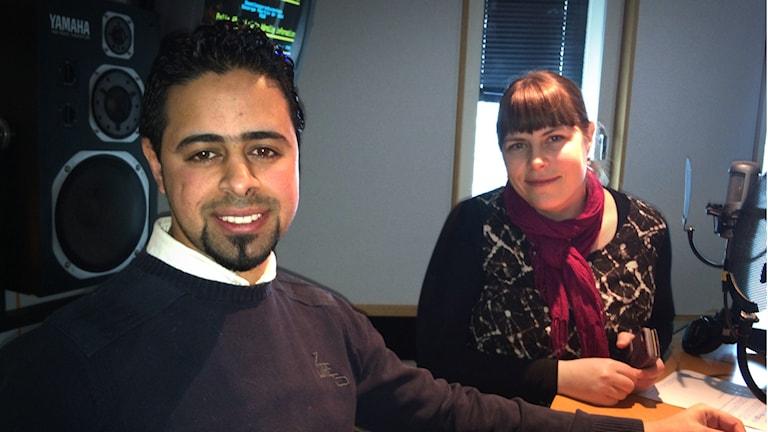 Lowissa Frånberg och Kamel Alhaj arbetar med integrationsprojektet Jamtli-kompis.