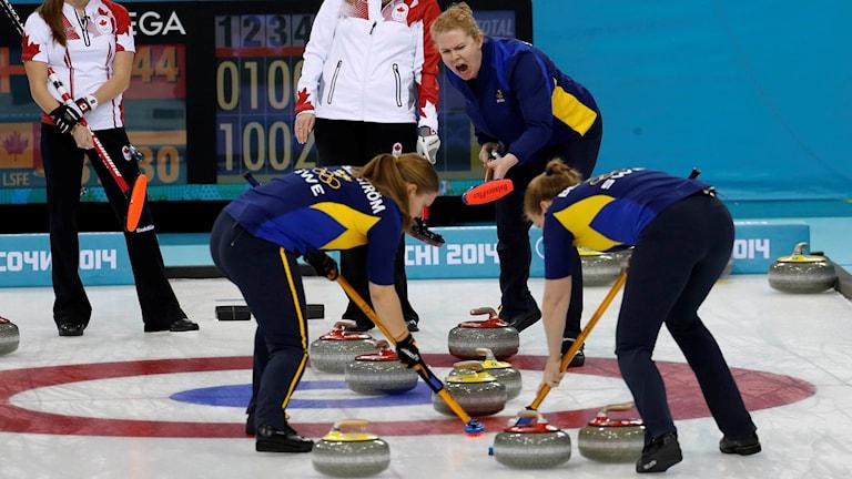 Pågående curlingspel