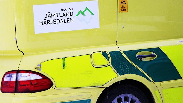Ambulans skyltad Region Jämtland Härjedalen