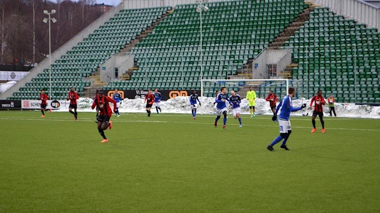 ÖFK spelar träningsmatch mot GIF Sundsvall.