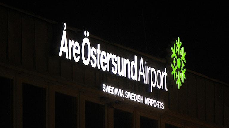 Skylt Åre Östersund Airport
