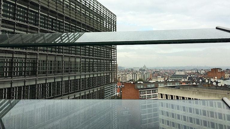 Utsikt från 10:e våningen i EU-kommissionen, Bryssel