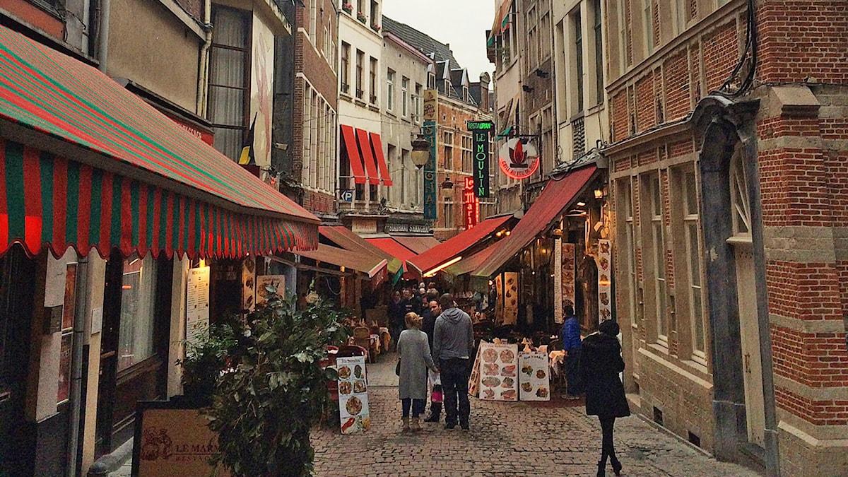Gatubild Bryssel