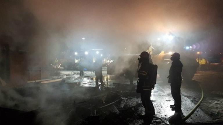 Hackås skola brinner 2016-03-25