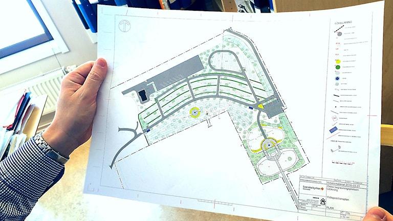 Så här ser planerna ut för de nya begravningsplatserna  vid Hoppets och trons kapell och krematoriet i Östersund.
