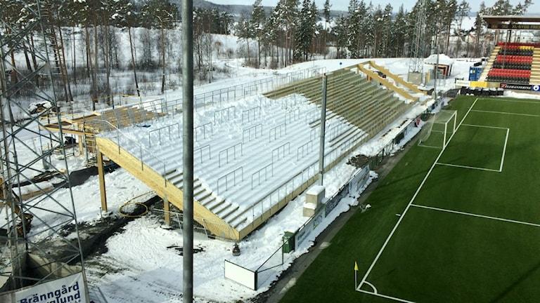Slutfasen av utbyggnaden av arenan i Östersund.