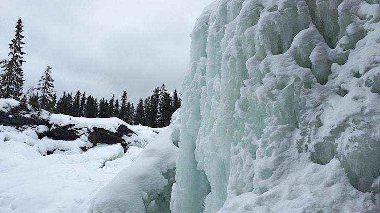 Ristafallet - fruset vattenfall Jämtland
