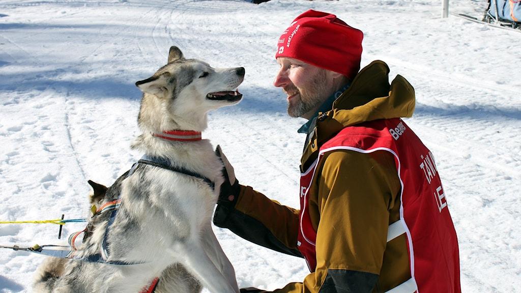 Martin Wagenius, tävlingsledare vid Beaver trap trail i Norråker