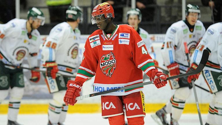 Hockeyspelare på isen