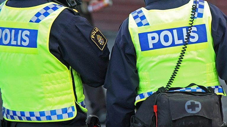Ryggtavla två poliser