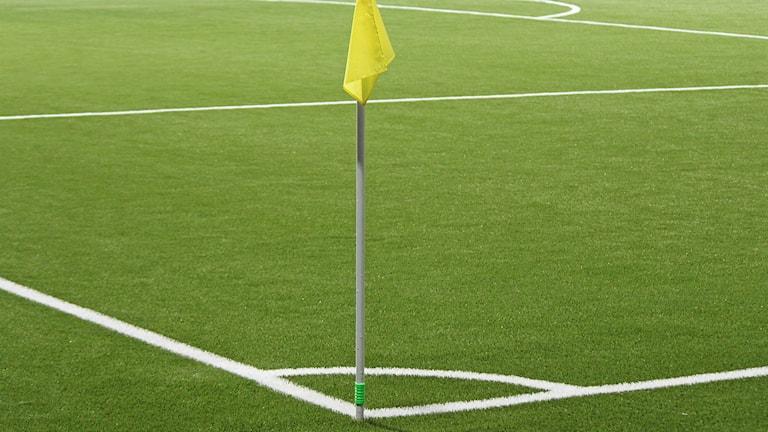 Hörnflagga på fotbollsplan