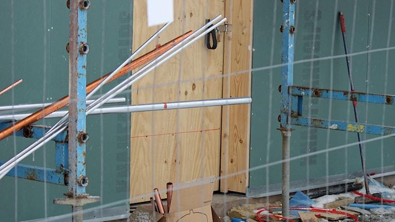 Byggarbetsplats bostadsbyggande Stadsdel Norr Östersund
