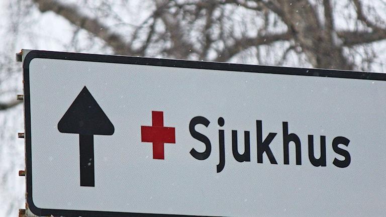 Sjukhus vägskylt Östersund