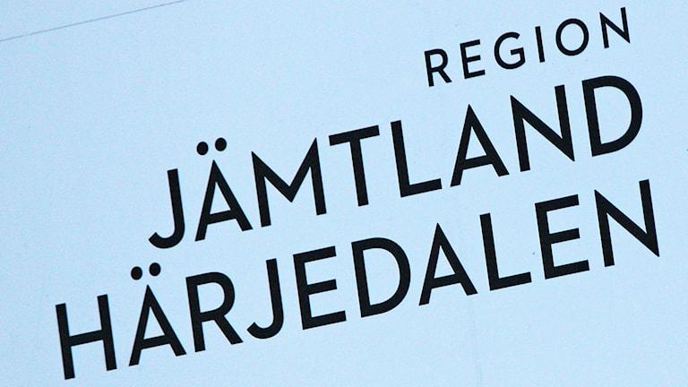 Skylt Region Jämtland Härjedalen - sjukvård - hälsa - sjukvårdspolitik - regionpolitik - regional utveckling - regionstyrelsen - regionfullmäktige