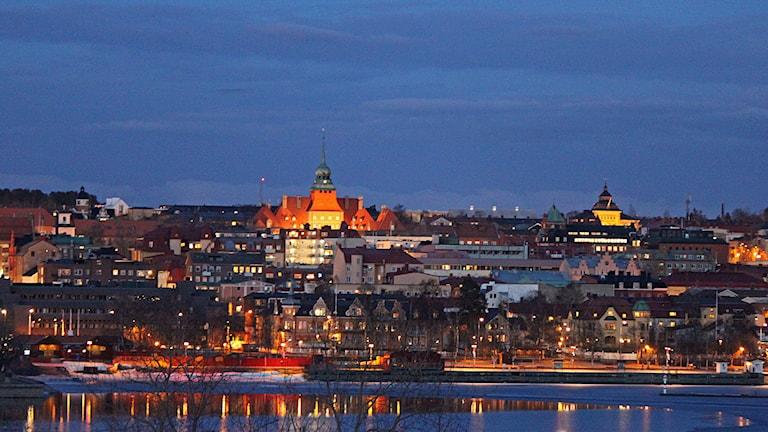Östersunds centrum med Rådhuset