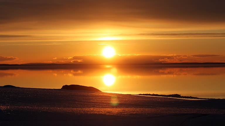Storsjön - solnedgång Storsjöflaket