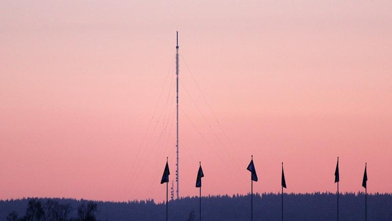 Radio- och tv-masten i Brattåsen utanför Östersund