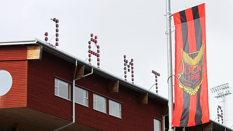 ÖFK-flagga vid Jämtkraft Arena