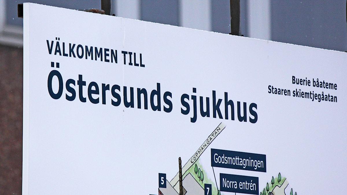 Östersunds Sjukhus informationstavla